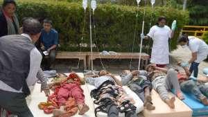 STOR PÅGANG: Sykehuset øst for Katmandu har hatt stor pågang etter jordskjelvet. Pasienter og ansatte sover fortsatt i telt utenfor sykehusområdet. FOTO: DHULIKHEL HOSPITAL