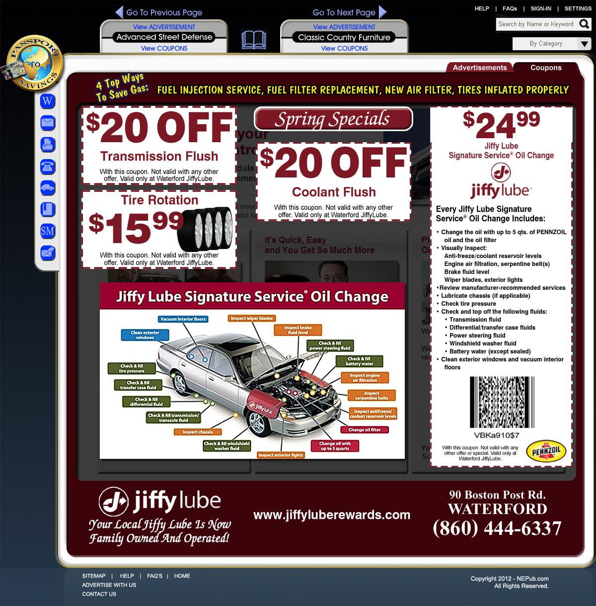 Transmission fluid change coupon jiffy lube