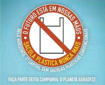 Tchau sacolas plásticas