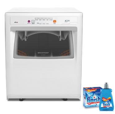 maquna de lavar louça Brastemp e sabão finish