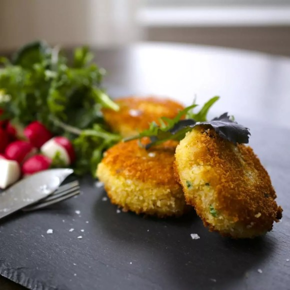 Crispy Risotto Cakes with Taleggio Cheese
