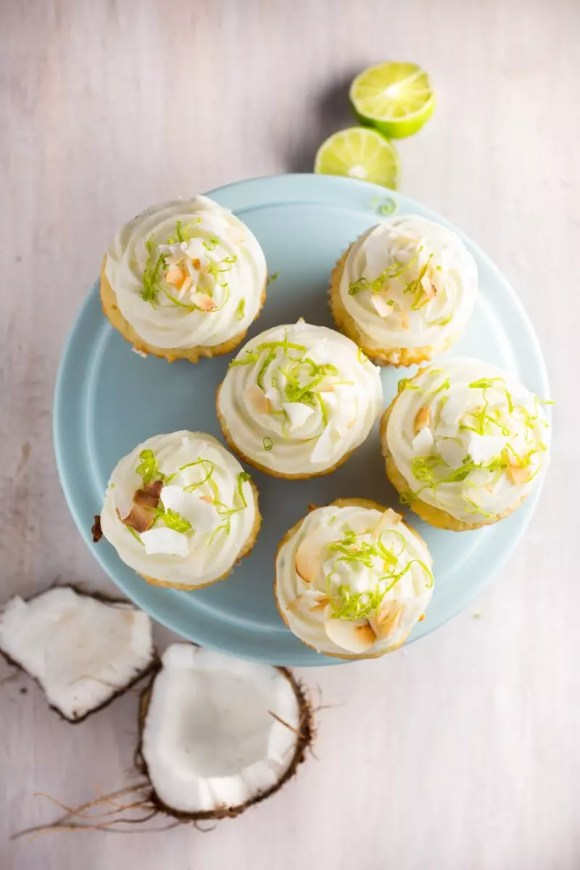 Coconut Key Lime Cupcakes