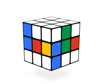 Rubik's Cube Google Doogle