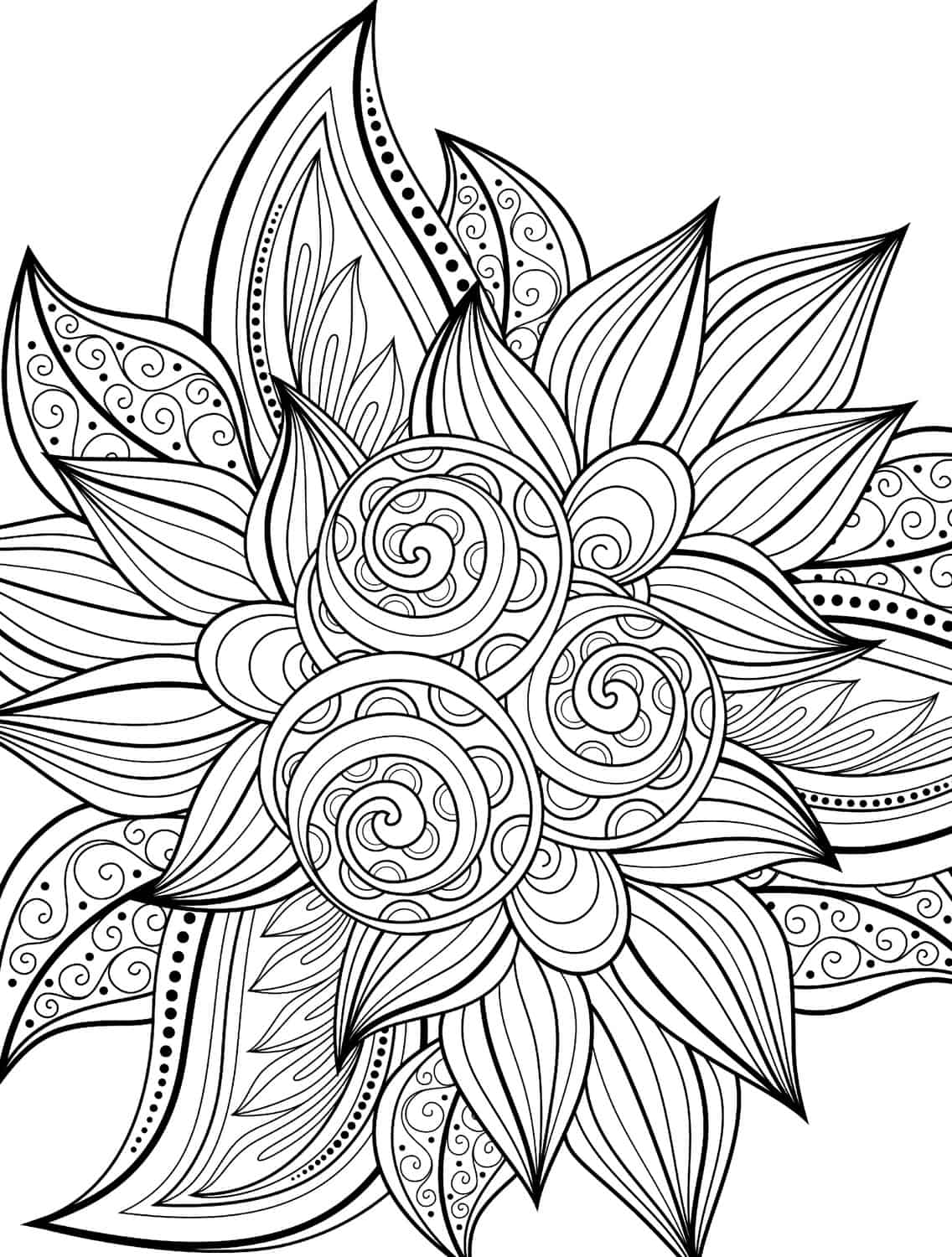 Printable Coloring Pages Adults 100