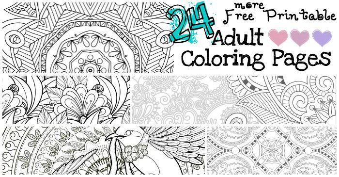 Awesome Free Printable Adult Coloring Pages Fb