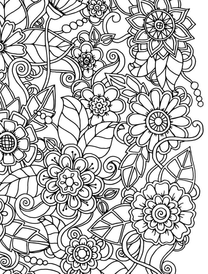 15 CRAZY Busy Coloring Pages for Adults - Page 4 of 16