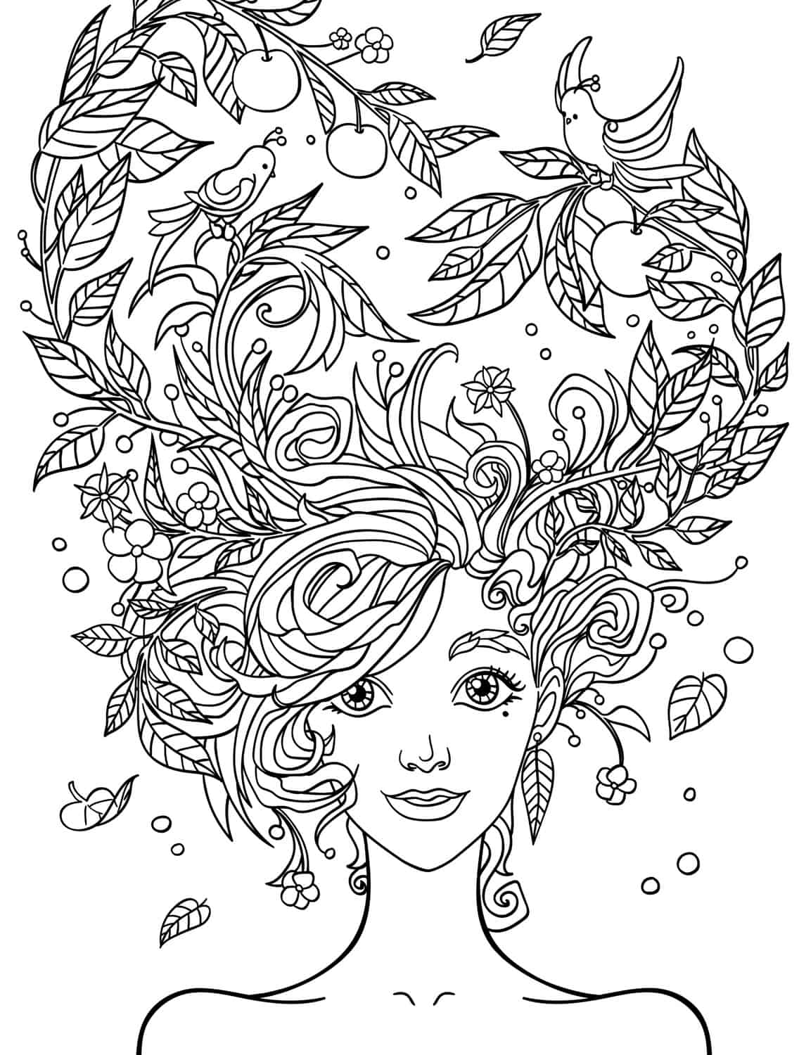 10 Crazy Hair Adult Coloring Pages Page 5 Of 12 Nerdy Coloring Pages For Adults Free