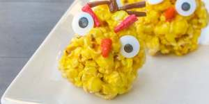 easy popcorn ball angry birds recipe feature