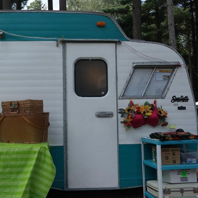 Scotty Northern Indiana Vintage Camper Rally VintageTinTrailer vintagetrailers vintagecampers vintagetrailerrallyhellip