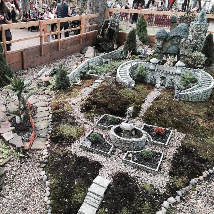 Really neat fairy garden at the bristolrenaissancefaire Will wants tohellip