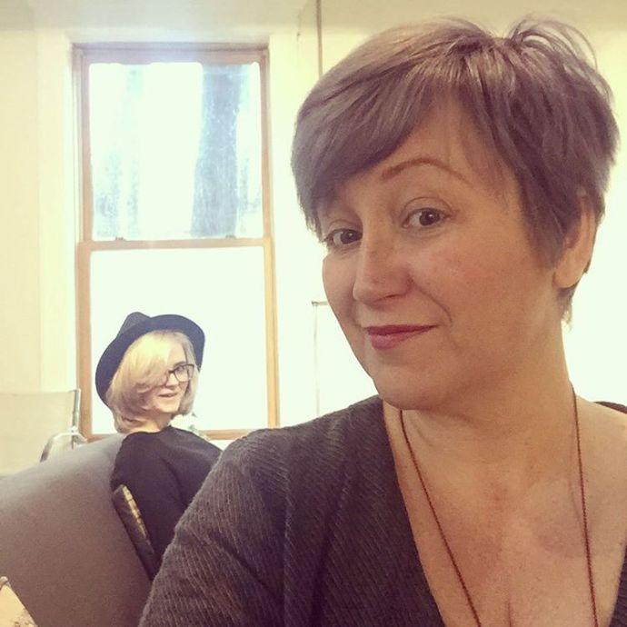 I have a new intern at work! sophiabowie blondie agencylifehellip