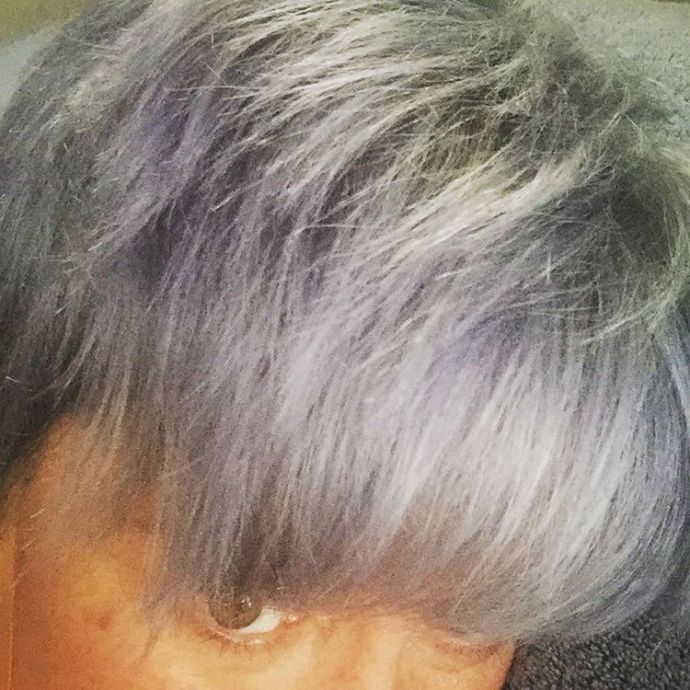 No more bluehair I couldnt deal silverhair pixiecut instahair haircolorhellip