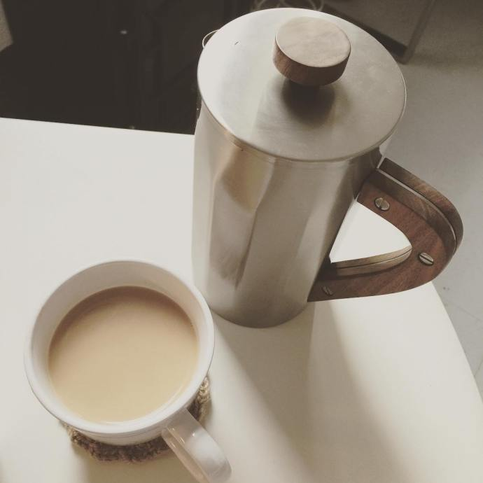 I bought this lovely French press last night from myhellip