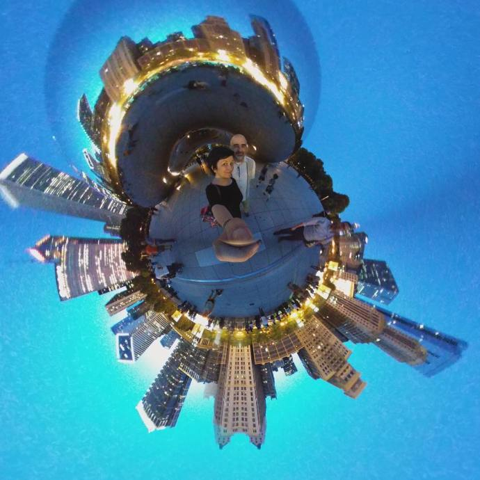 At TheBean with my cousin TinyPlanet 360 360camera Chicago millenniumparkhellip