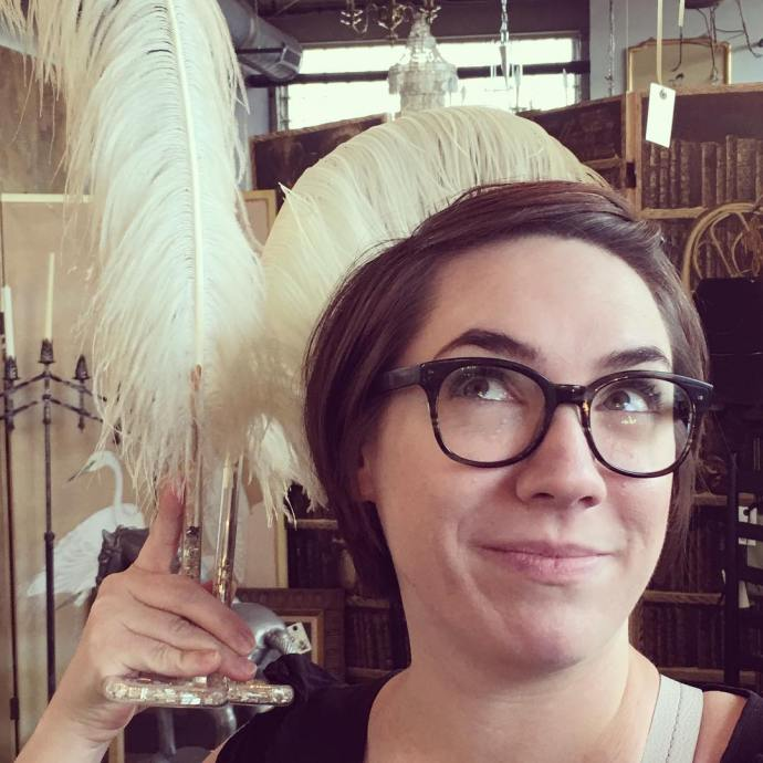 Fabulous feathers Shes too cute makingitlovely savoyflea antiquing frenchstyle