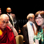 His Holiness the 14th Dalai Lama of Tibet…and some gal from Texas.