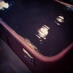 Road trip kit: vintage suitcase chalkboard