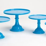 Vintage style cake plates by Mosser Glass
