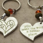 You Make the World a Better Place keychain