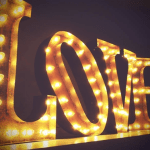 Two feet tall vintage marquee lights – letters