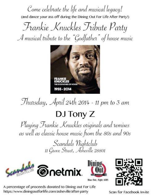 Frankie Knuckles Tribute Party Asheville April 24 2014