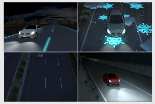 Futuristic highways in the Netherlands glow in the dark - YouTube