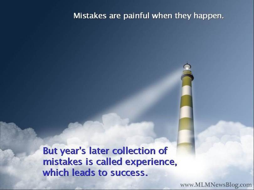 mistakes are painful when they happen