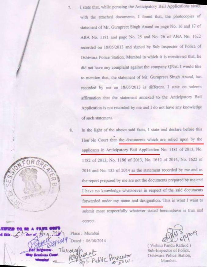 QNet fake document 1