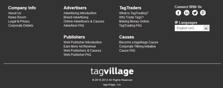 Tagvillage Menu