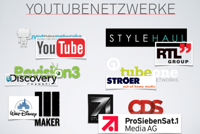 Investitionen in YouTube Netzwerke