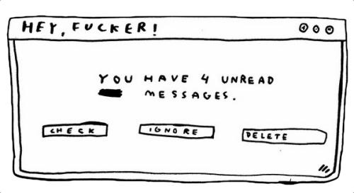 four unread messages