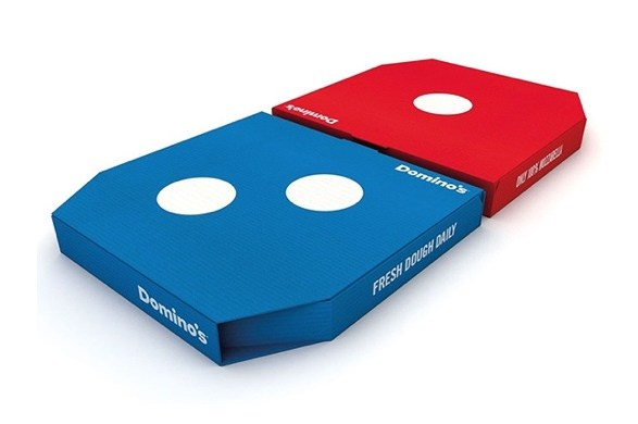 UK Domino's new UK pizza delivery boxes by Jones Knowles Ritchie