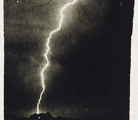 Old picture of lightning is shown.