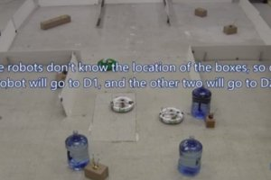 This is a still from the video showing the robots in action.