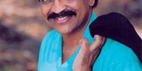 This is a photograph of neuroscientist V.S Ramachandran.