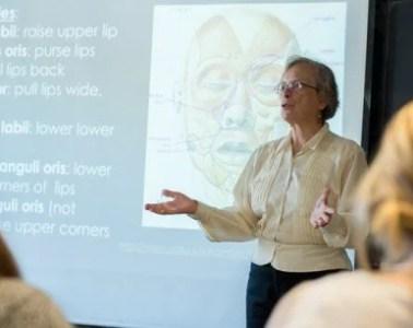 Image shows researcher Shelley Velleman.