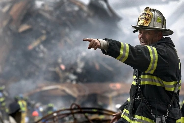 Image shows a firefighter.