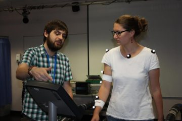 Image shows the researcher and a subject.