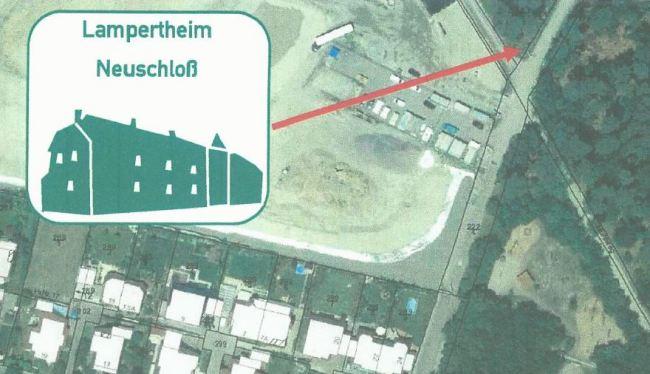 Dieses Schild wird bald Radfahrer aus Lorsch kommend in Neuschloß begrüßen.