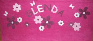 Virágos pink alapon