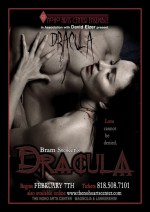 The NoHo Arts Center's production of DRACULA, a modern interpretation of the old play by Hamilton Deane and John L. Balderston