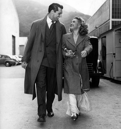 "Behind-the-scenes shot of Cary Grant and Priscilla Lane, stars of Frank Capra's ""Arsenic and Old Lace"". Photo © Warner Bros Entertainment Inc"