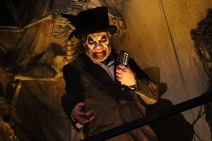 The Guardian warns visitors at the entrance to Dark Harbor, but do they listen?