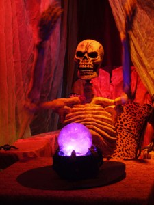 boney island skeleton fortune teller