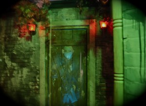 A ghostly inhabitant of the Paranoia Haunted Attraction