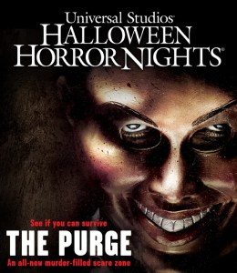 Halloween Horror Nights 2013 features a scare zone based on THE PURGE.