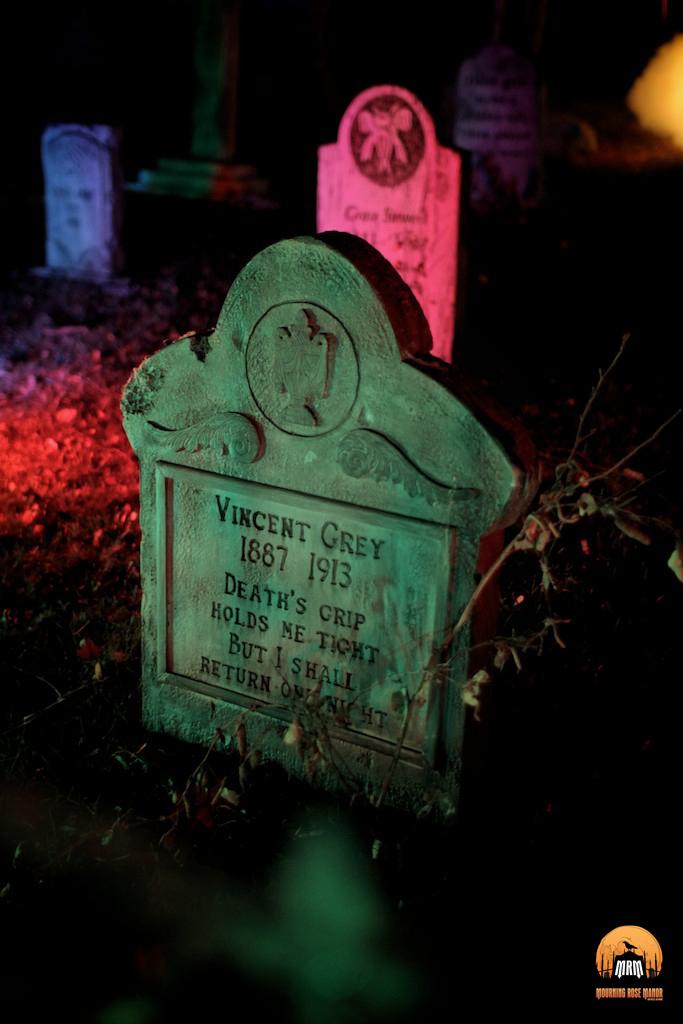 Mourning Rose Manor 2013 Vincent Grey gravestone