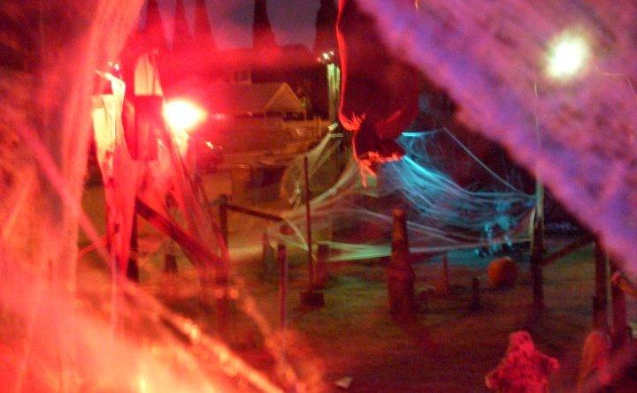 Spydrhill Cemetary cobwebs