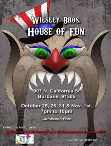Wilsley Brothers House of Fun 2014 revised flier