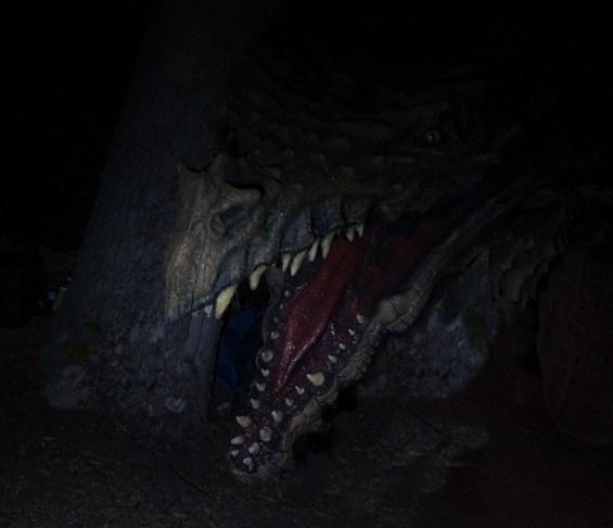 A dragon awaits you at this year's Haunted Hayride.
